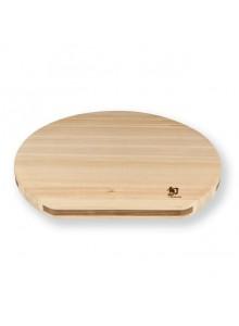 Pjaustymo lentelė medinė 36x33x2,5 cm, SHUN HINOKI, nupjauta, KAI (Japonija)