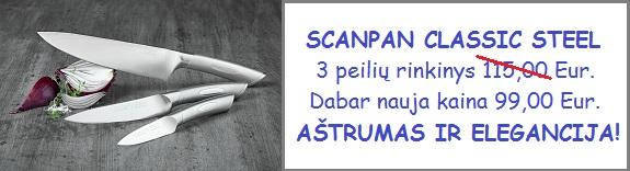 Scanpan Classic Steel 3 peilių rinkinys