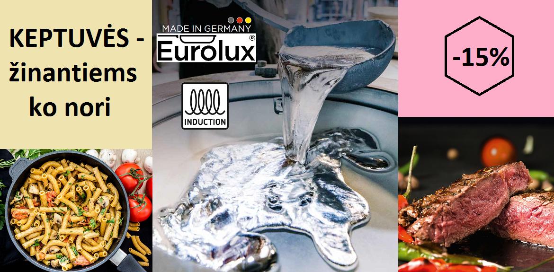 EUROLUX® keptuvėms -15 proc.