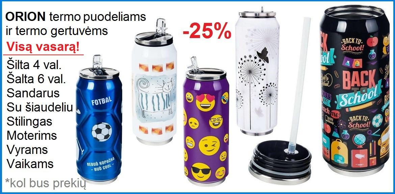ORION termogertuvėms -25%