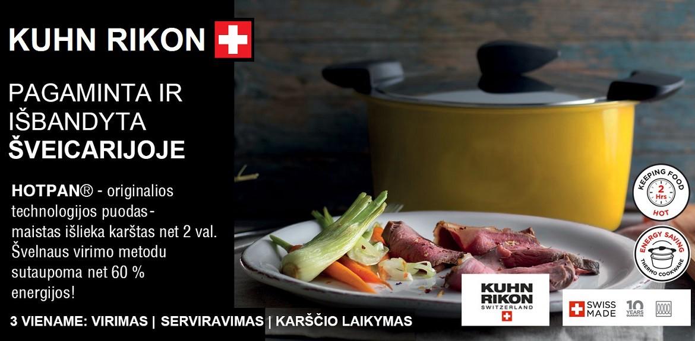 KUHN RIKON HOTPAN® išmanūs puodai iš Šveicarijos