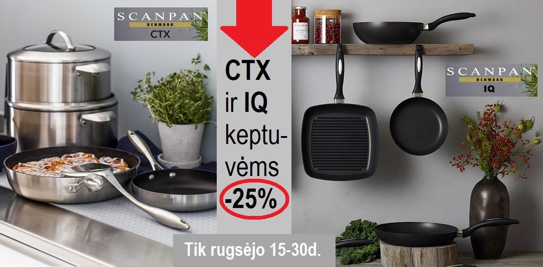 CTX ir IQ keptuvėms ir puodams -25 %