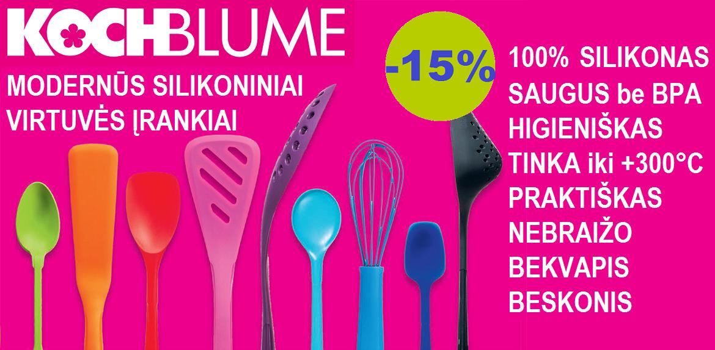 KOCHBLUME® silikoniniai virtuvės įrankiai