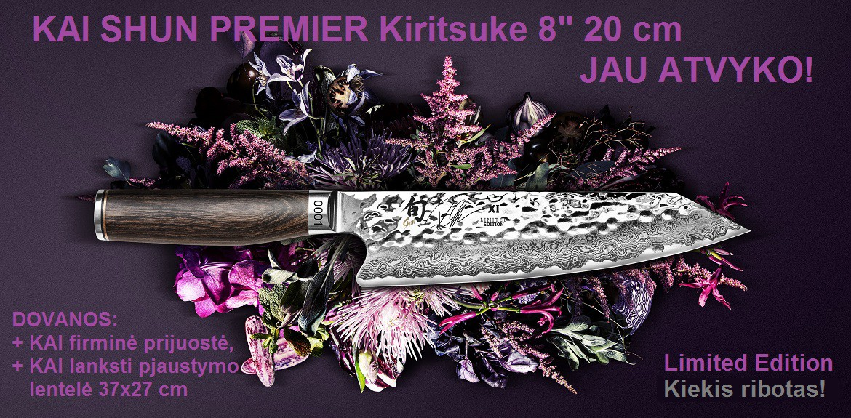 """KAI SHUN PREMIER Kiritsuke 8"""" 20 cm JAU ATVYKO!"""