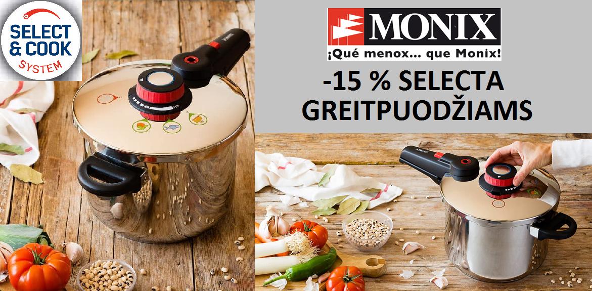 Selecta MONIX® greitpuodžiams -15 proc.